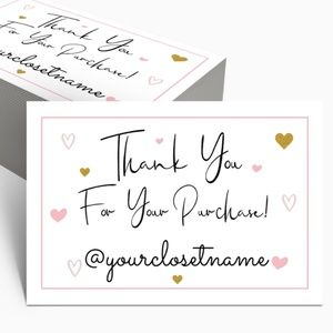 """Thank You Cards (50) with Personalization 4""""x6"""""""